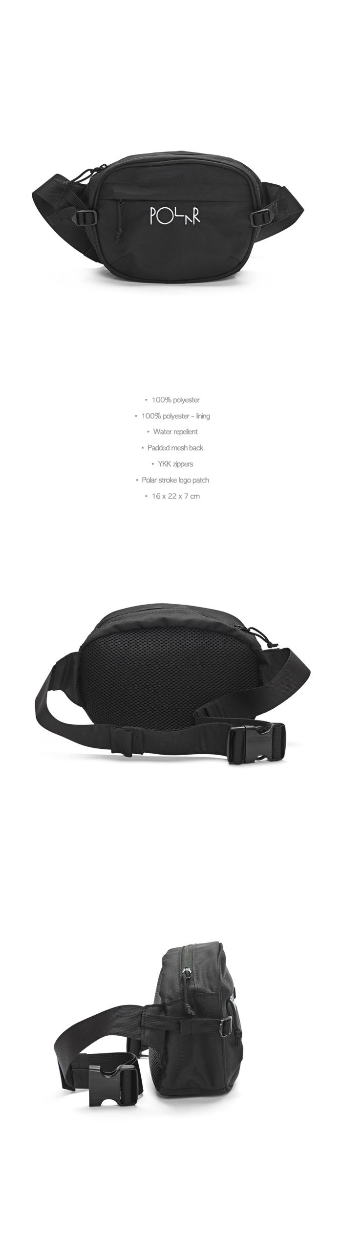 폴라(POLAR) Cordura Hip Bag - Black [SU19]