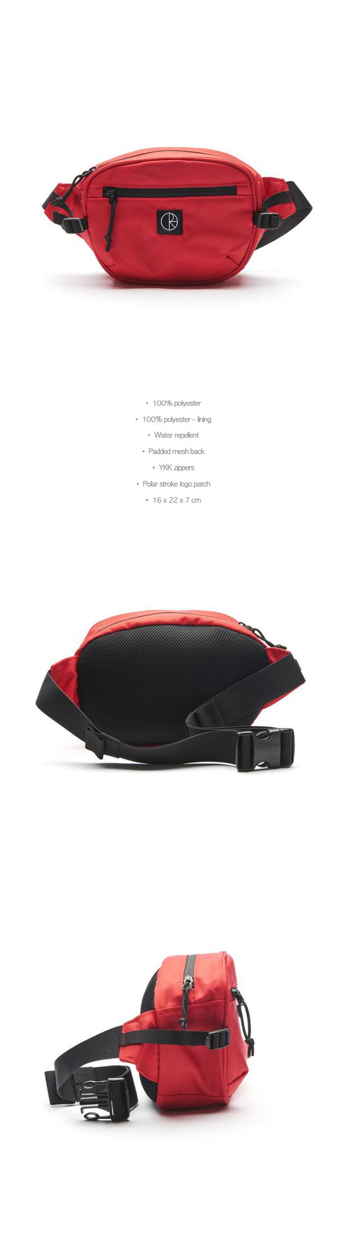 폴라(POLAR) Cordura Hip Bag - Red