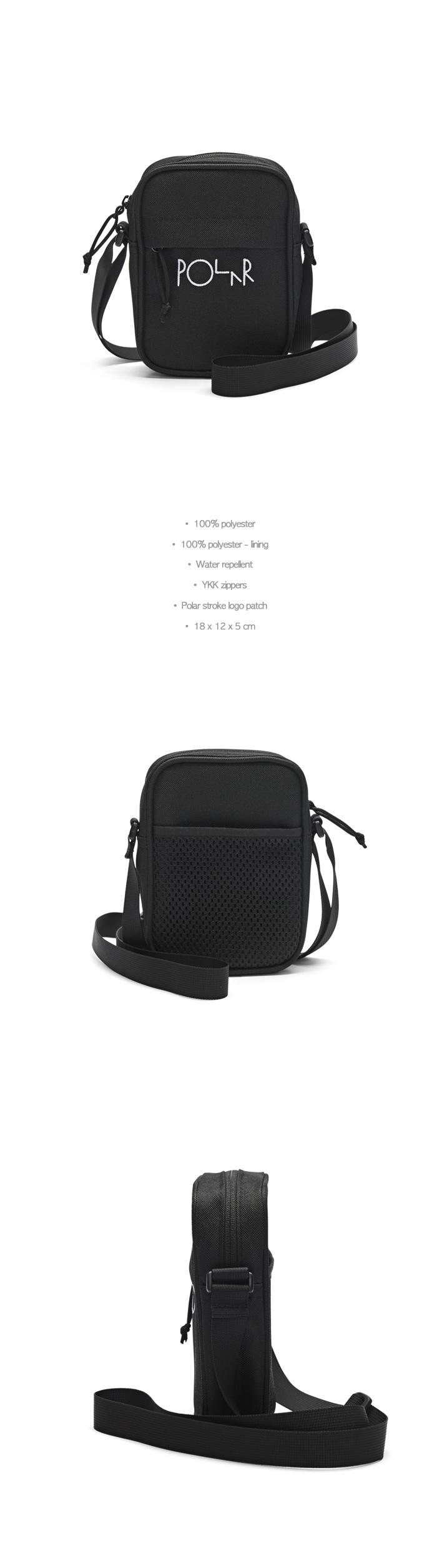 폴라(POLAR) Cordura Mini Dealer Bag - Black [SU19]