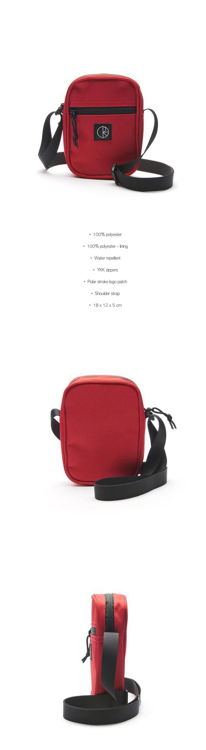폴라(POLAR) Cordura Mini Dealer Bag - Red