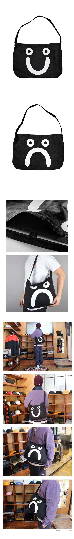 폴라(POLAR) Happy Sad Tote Bag - Black