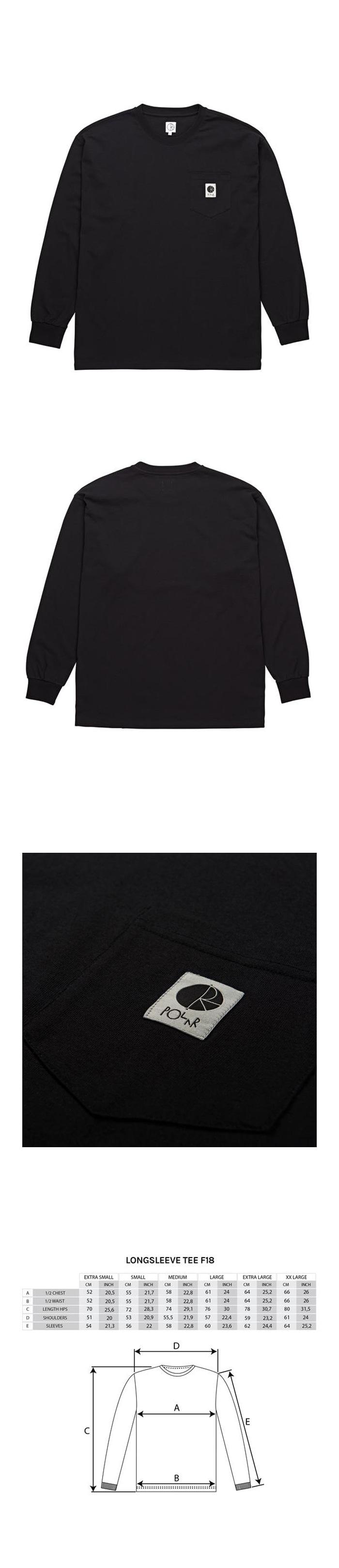 폴라(POLAR) Pocket Longsleeve - Black