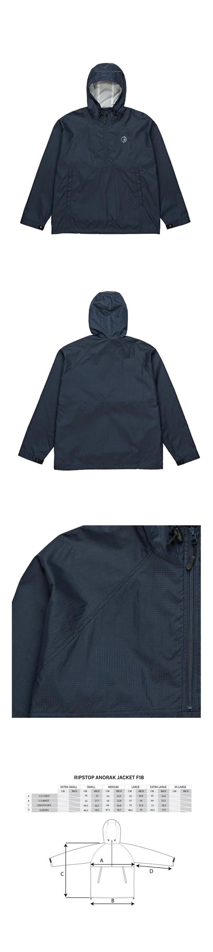 폴라(POLAR) Ripstop Anorak Jacket - Navy