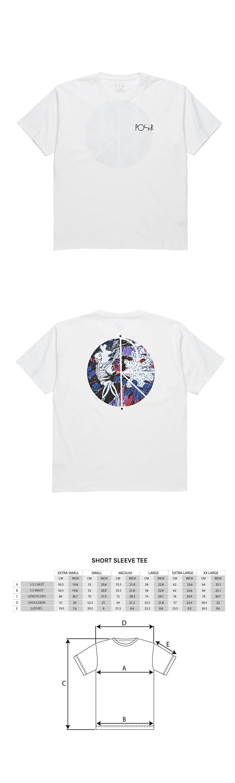 폴라(POLAR) Skeleton Fill Logo Tee - White