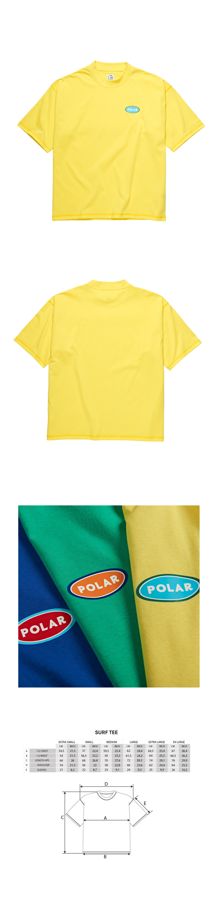폴라(POLAR) Station Logo Surf Tee - Yellow
