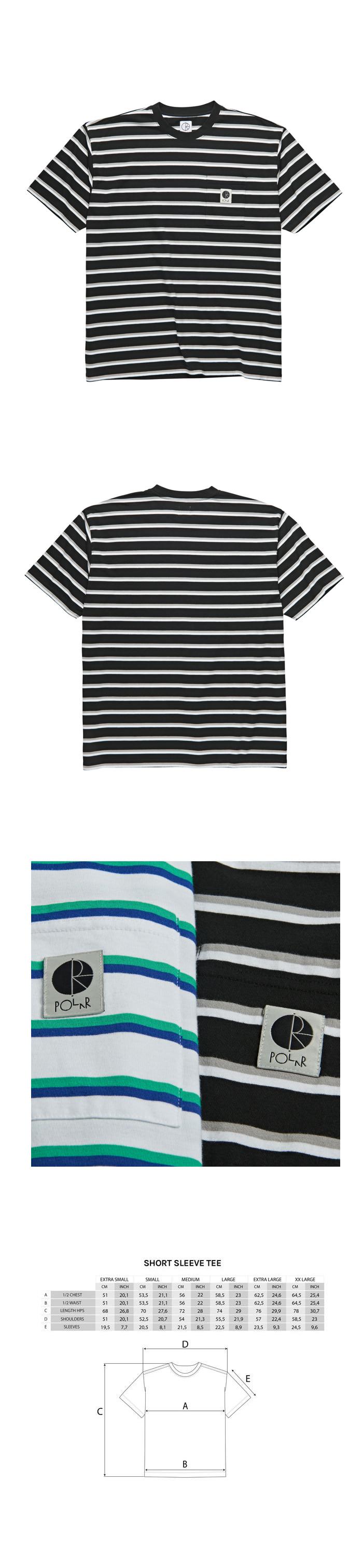 폴라(POLAR) Stripe Pocket Tee - Black