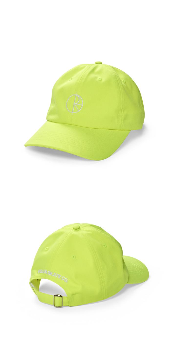 폴라(POLAR) Stroke Logo Cap - Neon Yellow