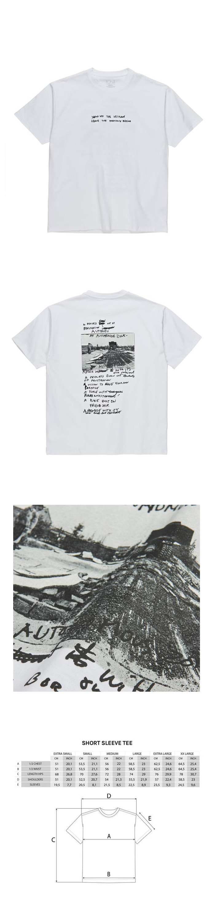 폴라(POLAR) Strongest Notes Tee - White