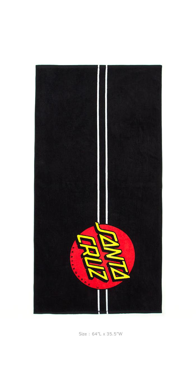 산타크루즈(SANTA CRUZ) Classic Dot Towel - Black